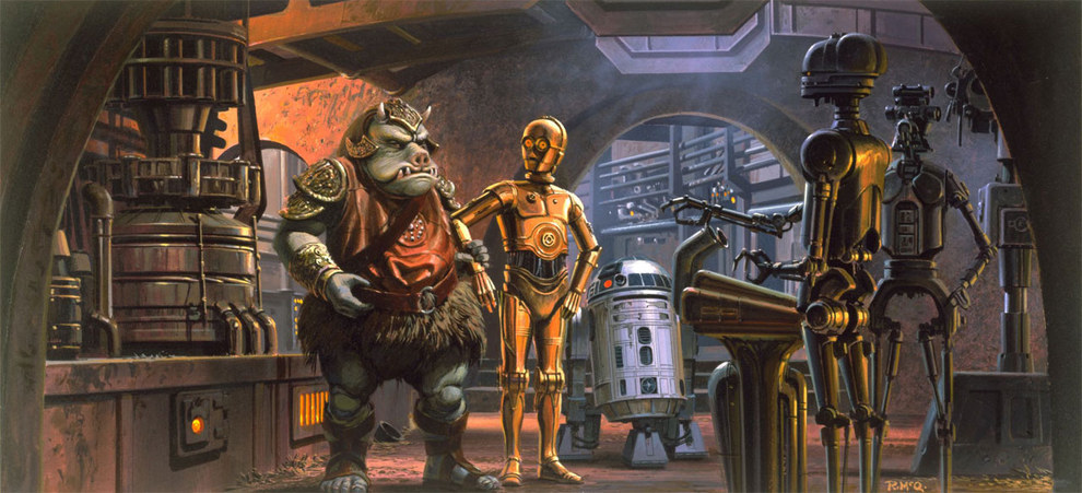 Star Wars Concept Art by Ralph McQuarrie - Digital Art Mix
