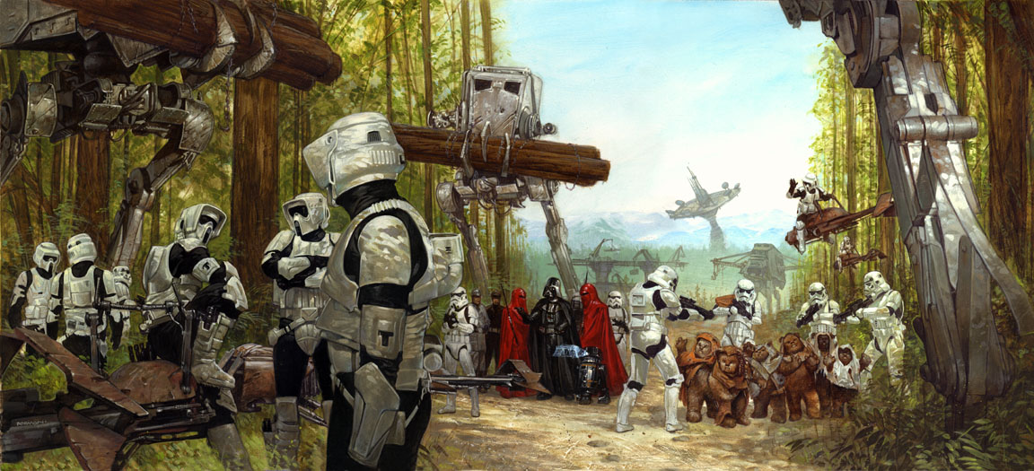 Illustrations of Unfilmed Star Wars Scenes - Digital Art Mix