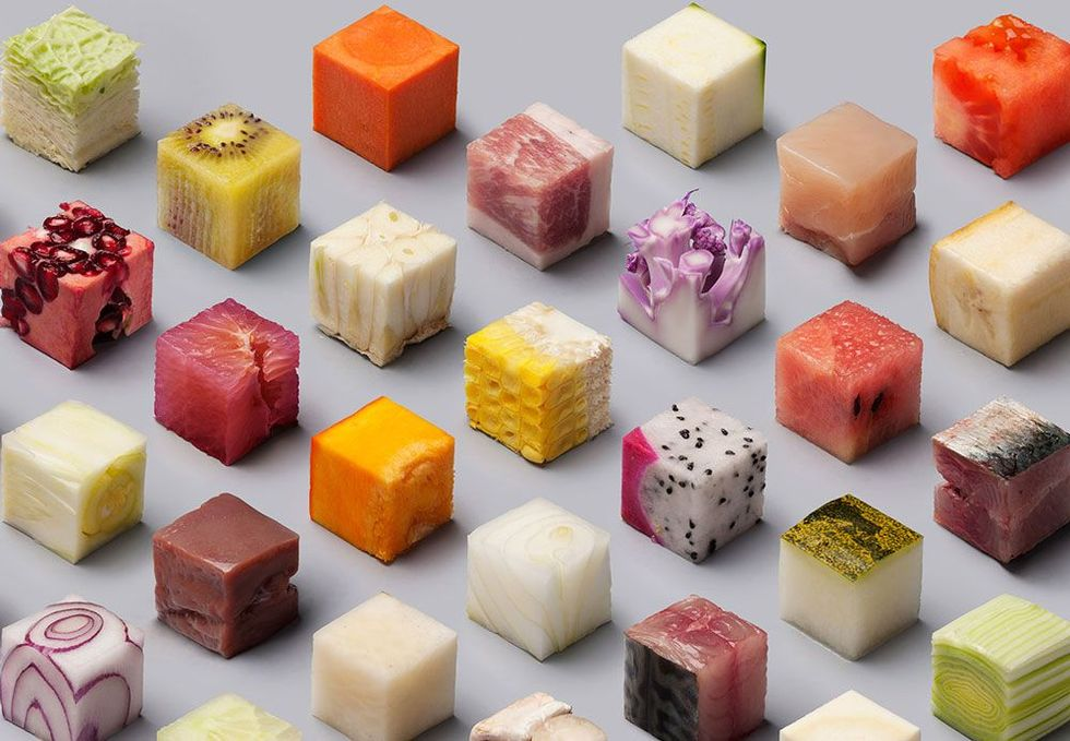 Get a Square Meal with These Beautiful Food Cubes - Digital Art Mix