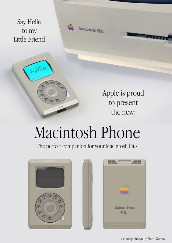 How the iPhone May Have Looked in 1987 - Girly Design Blog