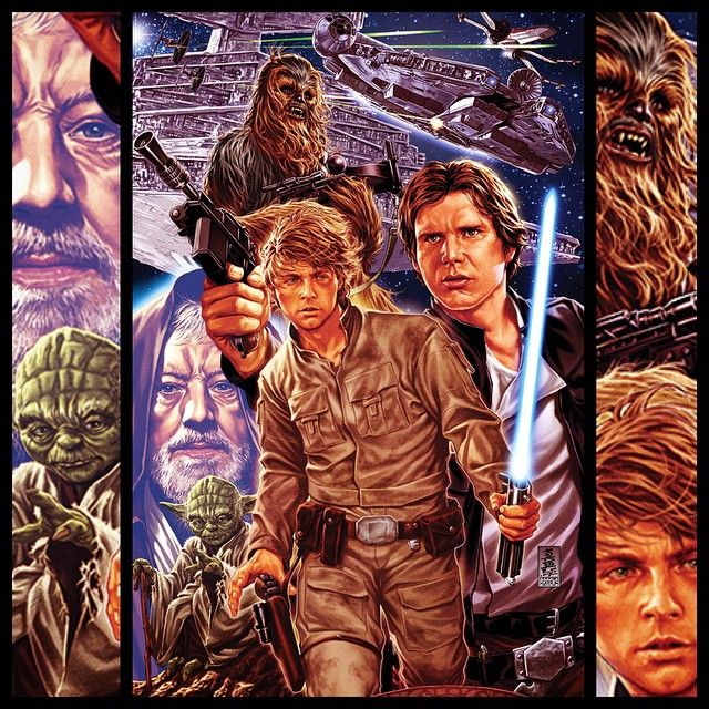 An Epic Collection of 100 Star Wars Illustrations - Digital Art Mix
