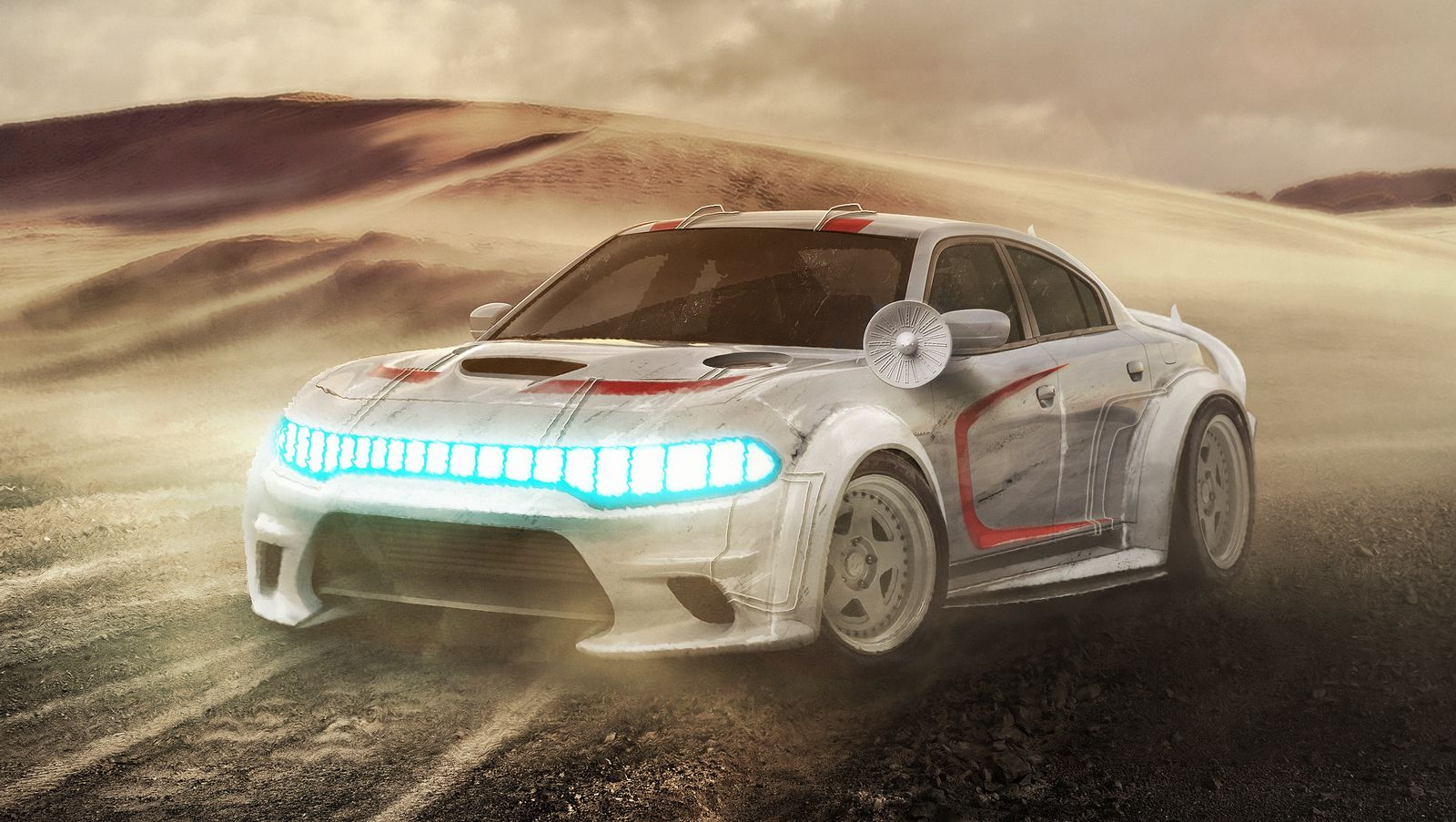 If Star Wars Characters Drove Earth Cars - Digital Art Mix