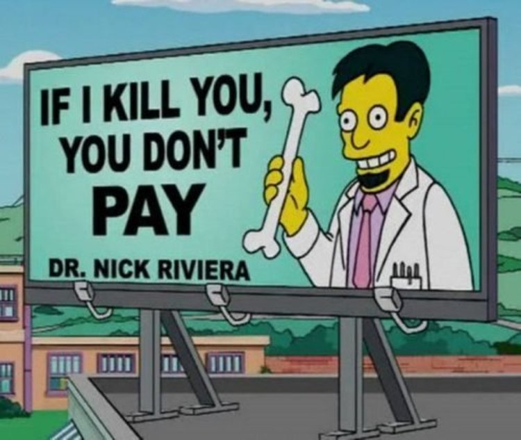 45 of the Funniest Signs from The Simpsons -