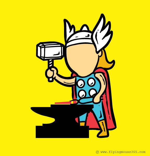 What if Superheroes Had to Get Part-Time Jobs? - Design Mash
