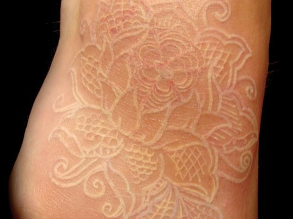 30 Gorgeous White Ink Tattoo Designs - Design Mash