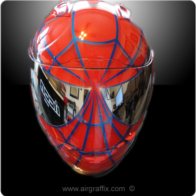Custom Painted Superhero Motorbike Helmets - Design Mash