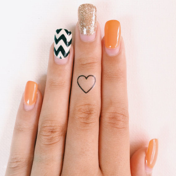Simple & Creative Temporary Finger Tattoos - Girly Design Blog