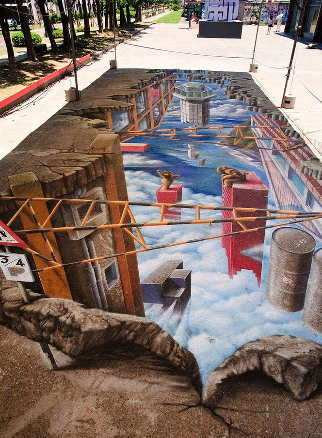 Amazing 3D Illusions Street Art - Girly Design Blog
