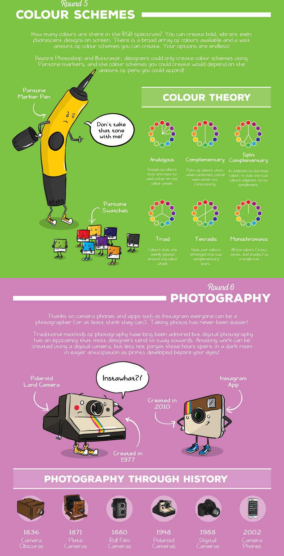 The Ultimate Battle: Old Vs New Graphic Design #Infographic Part 3 - Girly Design Blog