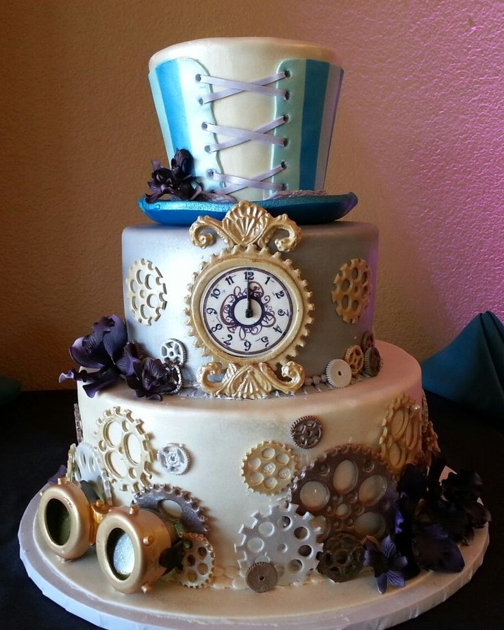 Clockwork Confectionery - 29 Steam Punk Cakes - Girly Design Blog